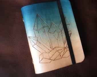 Blue Crystals Leather Sketchbook