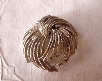 vintage silver pin-Monet-1970s