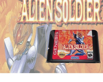 Alien Soldier Sega Genesis English fan made cartridge repro reproduction Mega Drive