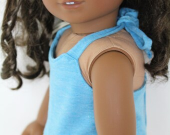 """Pretty blue halter top for 18"""" doll"""