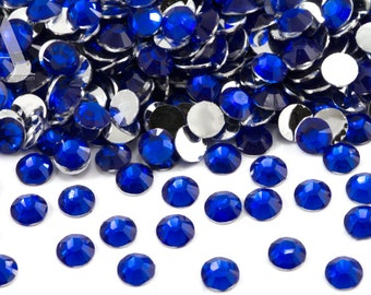 Sapphire Resin Rhinestones for Embellishments and Nail Art 3-6mm