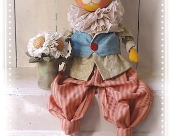 Primitive Folk Art Cat Doll ePattern tutorial
