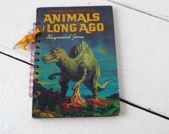 Vintage Book Dinosaur Journal Diary Notebook Sketchbook Art Journal