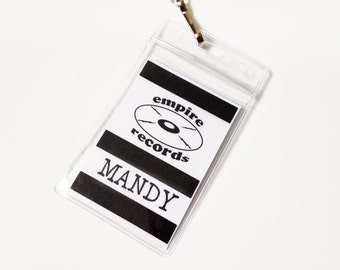 Personalized Empire Records Name Badge Prop Cosplay Costume