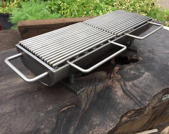 The 824 Twin-Top Hibachi Grill w/ carbon steel Grill