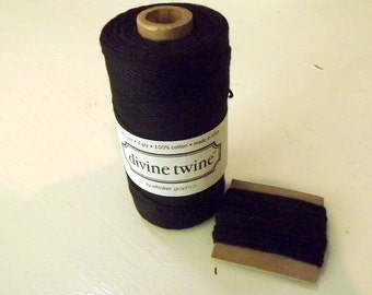 Black String Divine Twine 10 Yards Cotton
