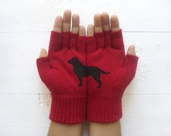 Women's Gloves, Labrador Gloves, Pet Pamperer Gift, Winter Sale, Dog Lover Gift, Gift For Her, Labrador Gift, Pet Lover Gift, Mom's Gift