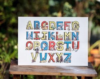 Custom Full Alphabet Print