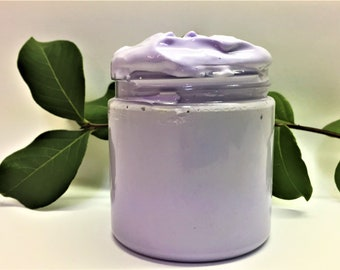 Lilac Whipped Foaming Sugar Scrub, Lathering Sugar Scrub, Whipped Soap Scrub Handmade