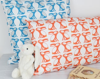 Bunny Rabbit Pattern Cushion Cover Pillow Baby Child Nursery Decor