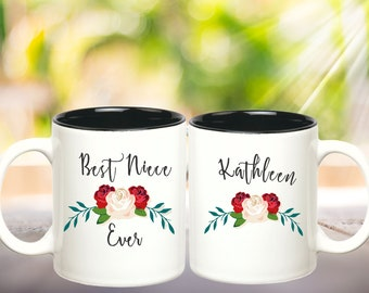 Best Niece Ever Mugs for Nieces Gift from Aunt Niece Gift Gifts for Her Personalized Mug Name Coffee Mug Custom Coffee Mug Personalized Gift