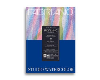 "Fabriano Studio Watercolor Pad 9"" x 12"" - 20 Sheets Cold Pressed 140lb"