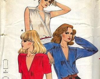 "Butterick 6887        Vintage  Pattern  Misses ""Fast & Easy""  Dressy Blouses     Size 8     Uncut"