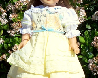 Handmade Doll Clothes Large Blossoms Fits any 18 inch Doll, Handmade in America Dress for 18 inch Dolls