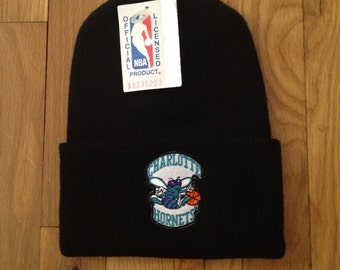 vintage charlotte hornets beanie adult OSFA deadstock NWT 90s made in USA