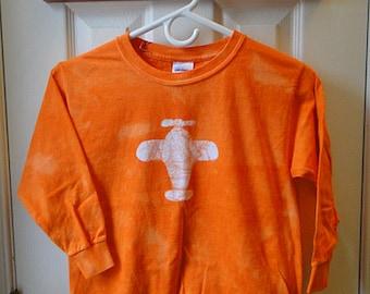 Kids Plane Shirt, Orange Plane Shirt, Long Sleeve Plane Shirt, Boys Plane Shirt, Girls Plane Shirt, Kids Airplane Shirt (8) SALE