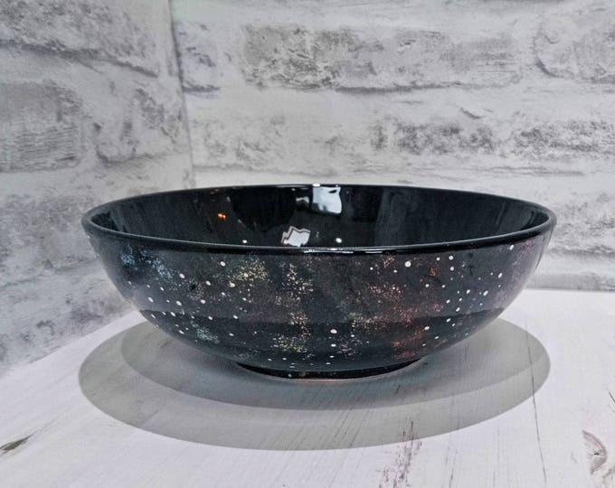 Galaxy salad bowl, Galaxy fruit bowl, Galaxy Pasta bowl, large space design, unique kitchen storage, birthday gift, weird and wonderful