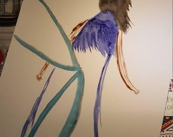 Fairy Queen original watercolor