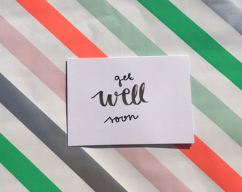 Set of 3 - Get Well Soon Card