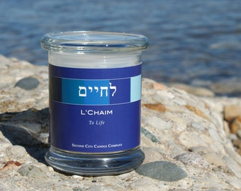 Scented Soy Candle: Lechaim; To Life