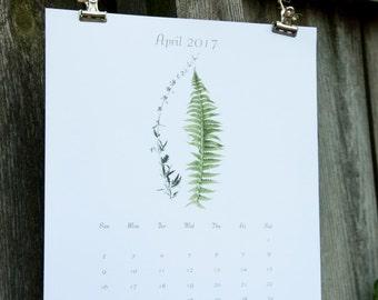 2018 Calendar, 2018 Wall Calendar - Botanical 2018 Calendar - Large Poster Calendar 2018-2019