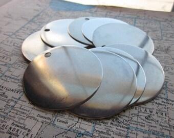 10 TUMBLED Aluminum 2 Inch Discs - 18 Gauge