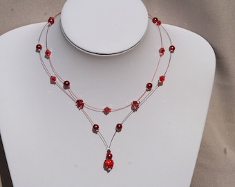 Red wedding necklace