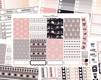 Soft Winter Weekly Kit or Al a Carte (matte planner sticker, fits perfect in Erin Condren Life Planner Vertical)