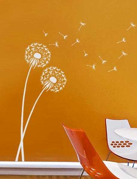 Dandelion Stencil - Reusable wall stencils better than decals - Flower stencils for DIY decor