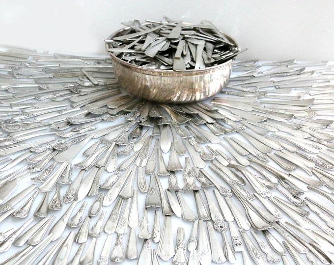 Silverplate Spoon Ends Blanks Flatware Bracelet Ring Supply Fork Handle Parts Wholesale Handles metal craft supplies, jeweler stamp blanks