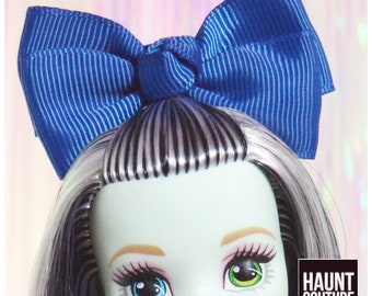 """Monster Doll Haunt Couture: """"Blue Hairbow"""" headband high fashion accessories clothes"""