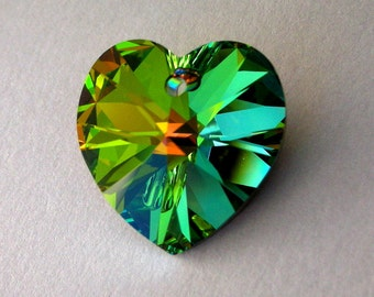 18mm Vitrail Medium heart, Swarovski crystal heart pendant, Qty 1