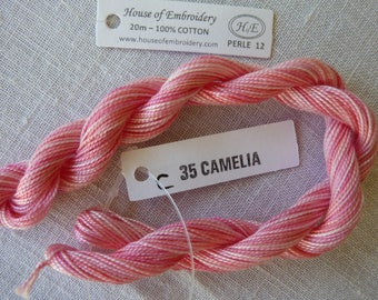 Beaded wire No. 12 HOUSE OF EMBROIDERY collar 35 Camellia