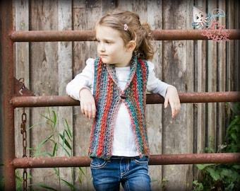 Crochet vest Pattern, girls crochet top pattern, Crochet vest pattern,, Collared vest, instant download, one piece, easy crochet pattern