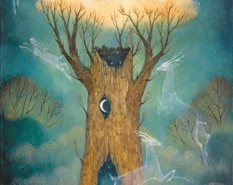"""Limited edition giclée print of original painting by Lucy Campbell - """"The Dreaming"""""""