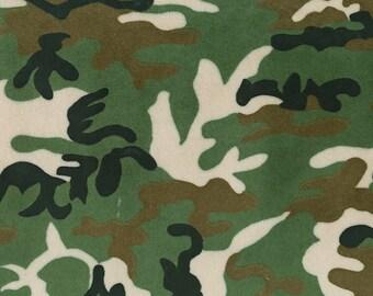 Green Camouflage Minky Fabric - By The Yard - Boy / Camo / Minky