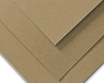 Brown Bag KRAFT DTC 130 lb cardstock 8.5x11 - 25 pack