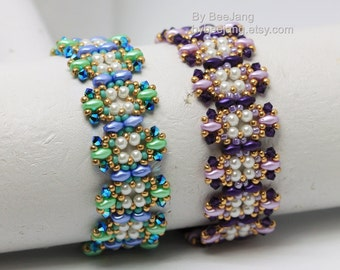 PDF Tutorial - Laulin Bracelet Instant Digital Download Beading Patterns Beadweaving Tutorials