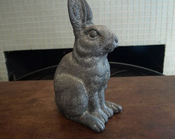 Bunny Rabbit Lawn Ornament / Statue by Art Line Inc. – Made with All Weather Resistant Polyresin Material