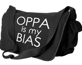 OPPA Messenger Bag oppa is my bias kpop bag k-pop crossbody bag college laptop bag cute korean bag fandom kawaii