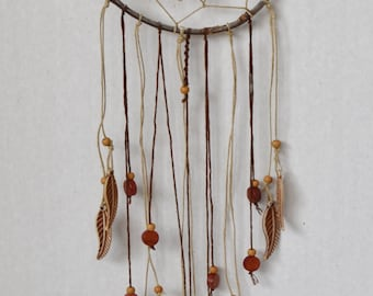 Natural Dream Catcher Brown/ Hemp Dream Catcher/ Nature Wall Hanging/ Wall Decore Brown