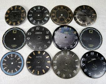 Vintage Watch Faces - set of 12 - c10