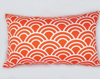 Scallop Orange - Decorative Pillow Cushion Covers - Accent Pillow - Throw Pillow