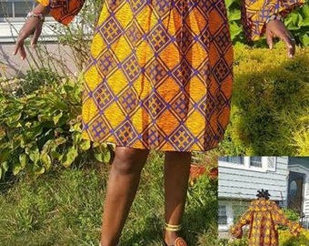 african print free dress