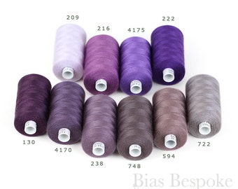 ESTER 80 All-Purpose Sewing Thread, 100% Polyester, 1094 Yards, Purple