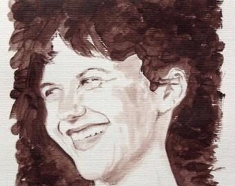 Portrait of Sylvia Plath
