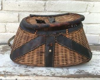Vintage Creel Basket