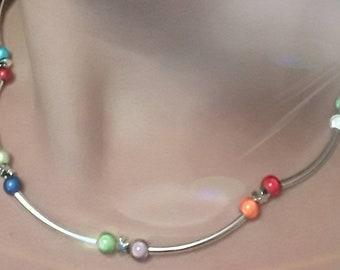 Necklace multicolored stars