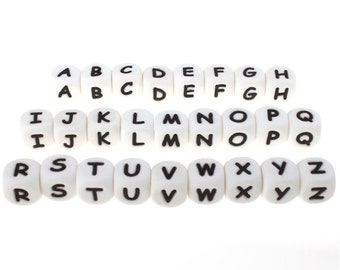 26 alphabet letter silicone beads