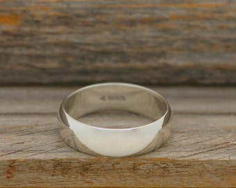 Polished Solid Silver Band
